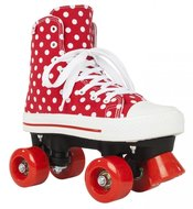 Rookie-Rollerskates-CANVAS-HIGH-POLKADOTS-(rood-wit)